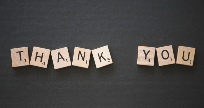 Ever notice how good it feels to be thanked?